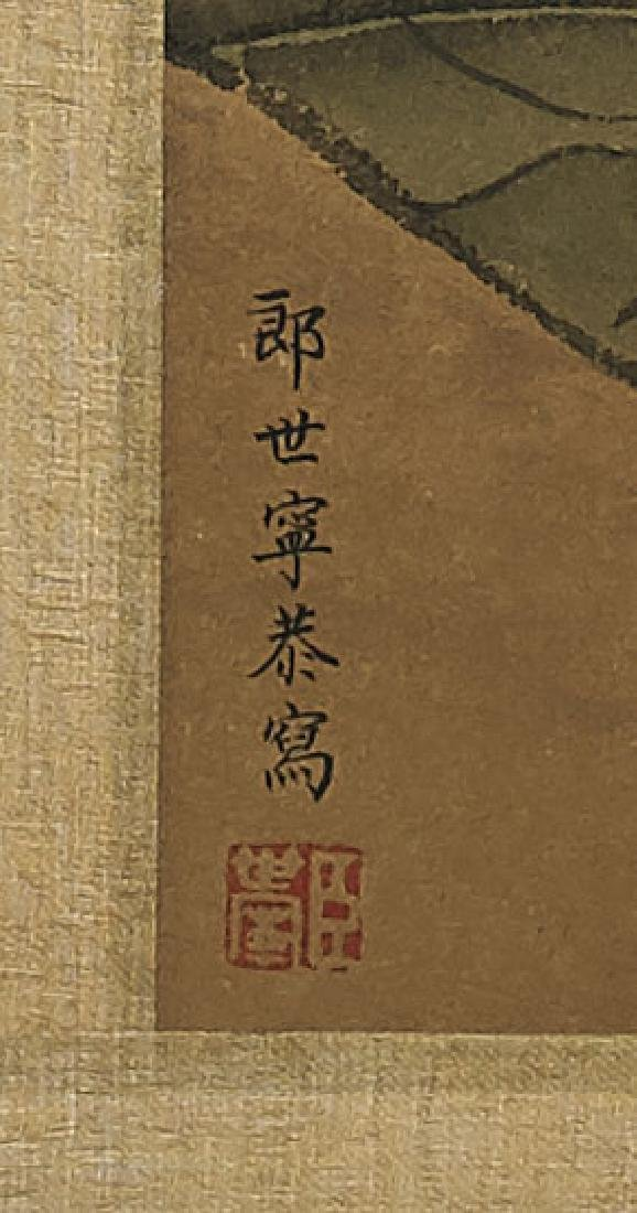 Two Chinese Paper Scrolls: Insects & Flora - 5