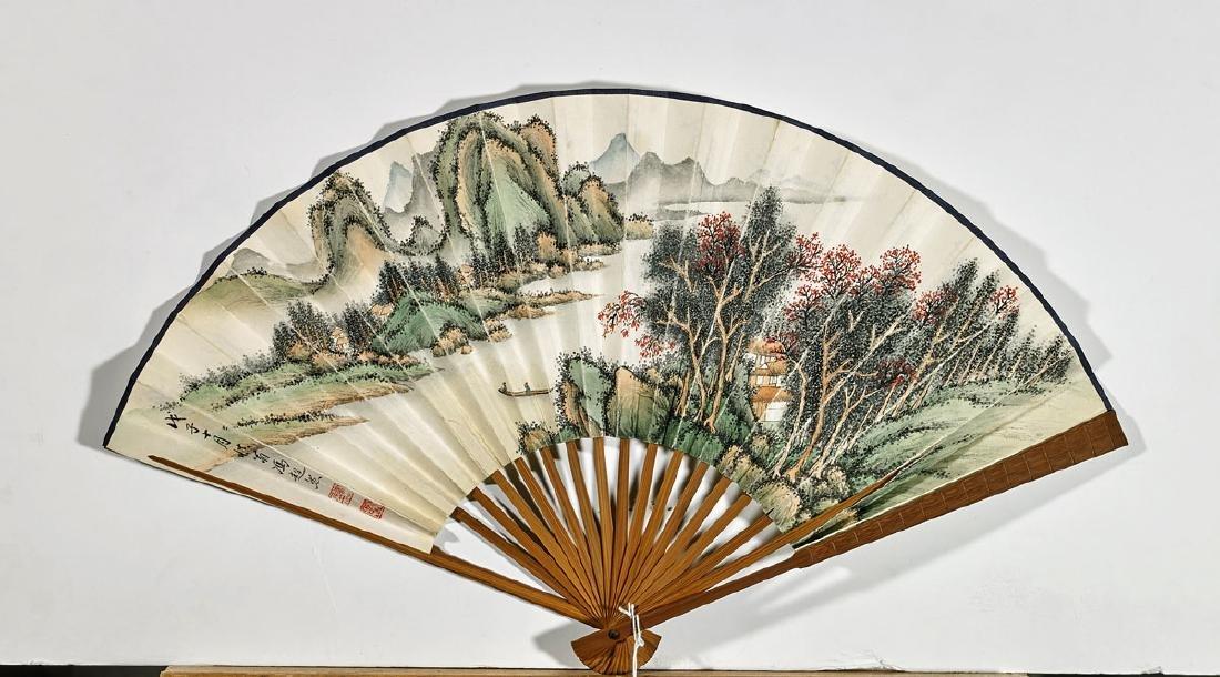 Two Chinese Artworks: Fan & Handscroll - 3