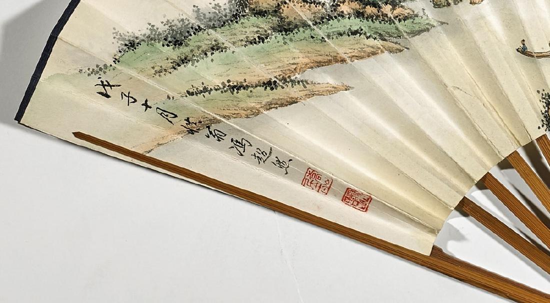 Two Chinese Artworks: Fan & Handscroll - 4