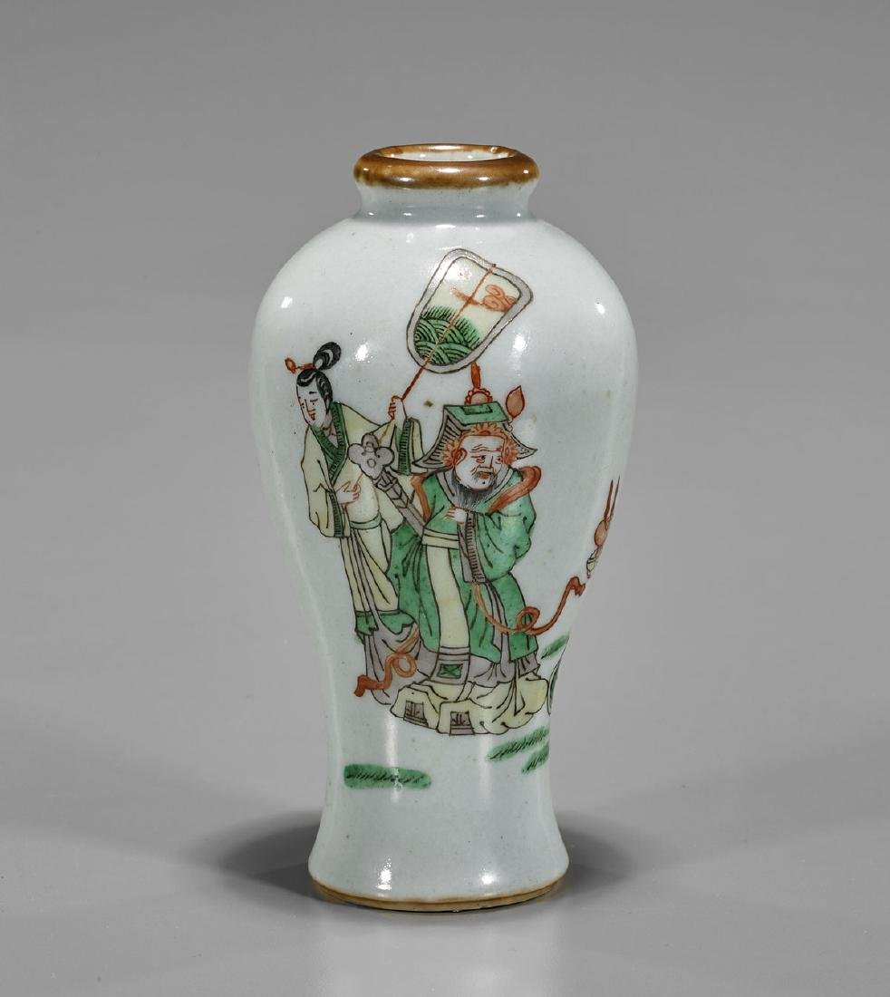Antique Chinese Famille Verte Porcelain Vase