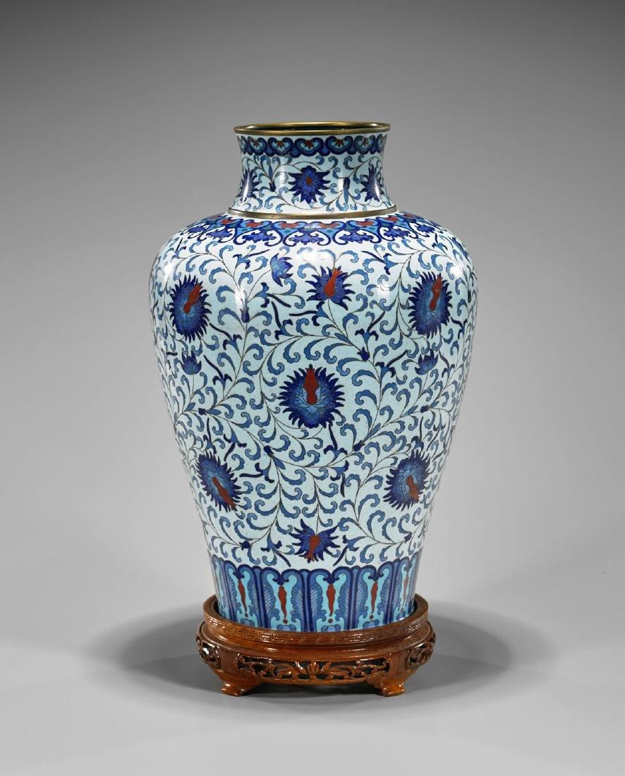 Old Chinese Cloisonne Enamel Vase