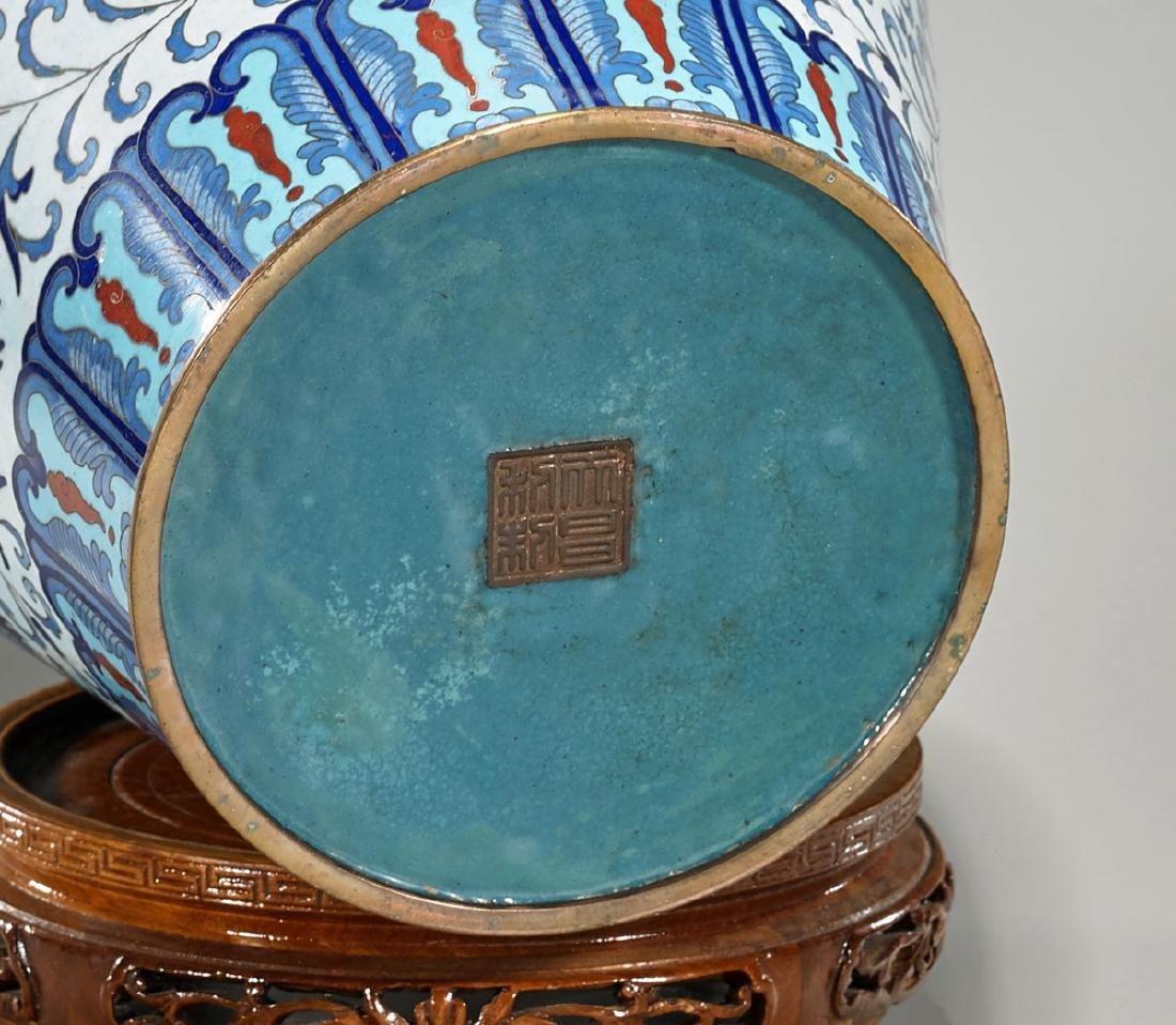Old Chinese Cloisonne Enamel Vase - 2