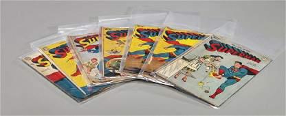 Seven Golden Age DC Superman Comics 1948  1949