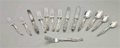 Old Sterling Silver Flatware By Whiting Lily of the