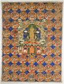 Old Sino-Tibetan Painted Thangka: Buddha