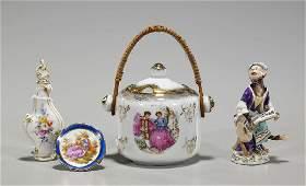Group of Four Various Antique Porcelains