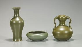 Group of Three Chinese Porcelain Vessels