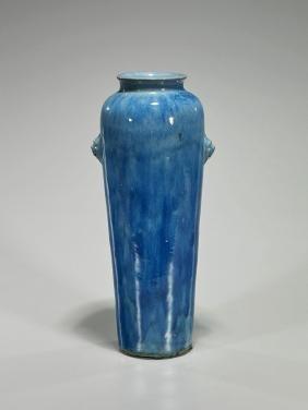 Antique Flambe Glazed Porcelain Vase