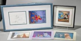 Group of Disney Animation Prints