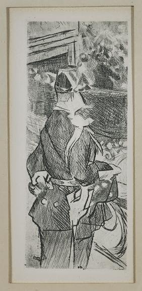 Two Etchings: After Pablo Picasso & Jacques Villon