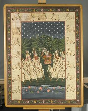 Old Indian Painting on Silk