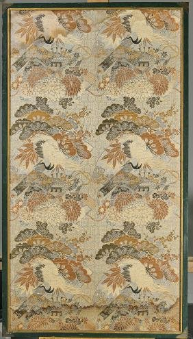 Three Old Japanese Embroidered Silk Panels