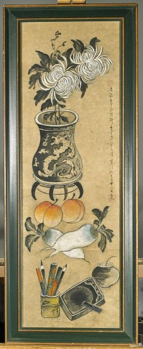 Antique Korean Still Life Painting