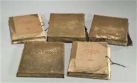 Group of Five Various Old Books