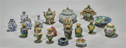 Collection of Twenty Small Cloisonne Items
