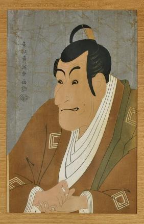Set of Two Japanese Woodblock Prints After Sharaku
