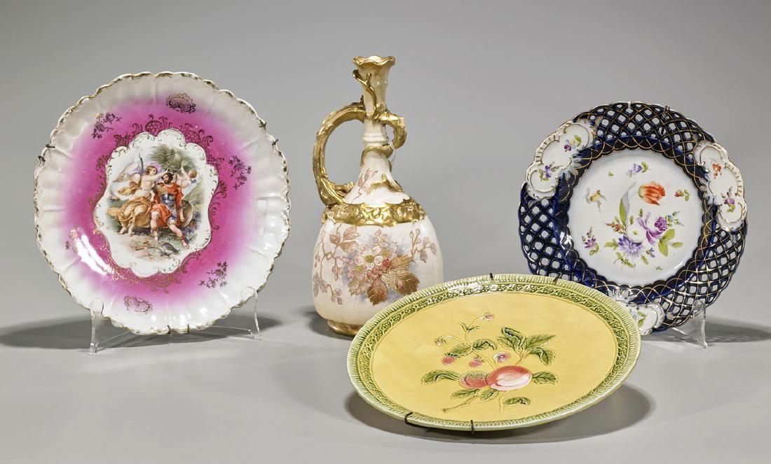 Four Antique Continental Porcelain Items
