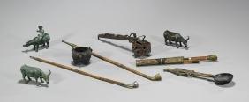 Group of Nine Various Metalwork Items