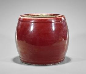 Chinese Oxblood Glazed Porcelain Jardiniere