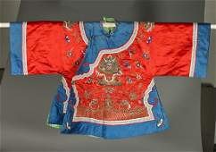 Old Chinese Embroidered Silk Robe