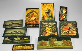 Collection of Russian Lacquer Plaques