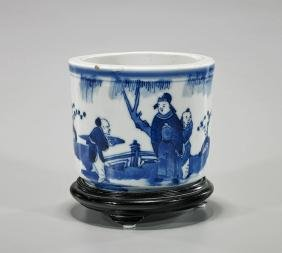 Antique Porcelain Figural Brushpot