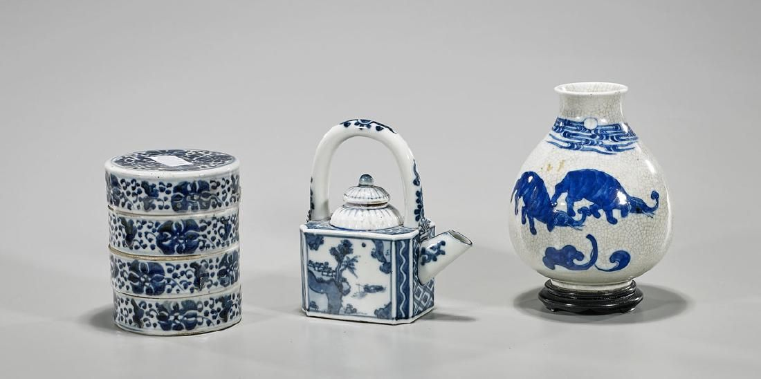 Three Old & Antique Chinese Porcelains