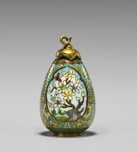 Old Chinese Cloisonne Snuff Bottle