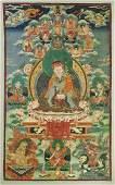 OLD SINO-TIBETAN THANGKA: Padmasambhava