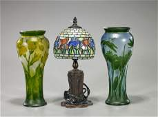 Group of Three Glass Items