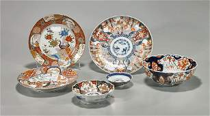 Group of Six Old  Antique Imari Porcelains