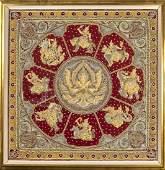 Large Old Burmese Kalaga Zodiac