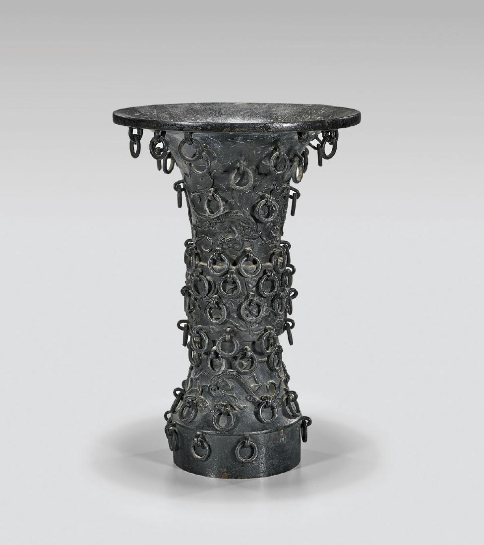 Antique Chinese Bronze Gu Vase