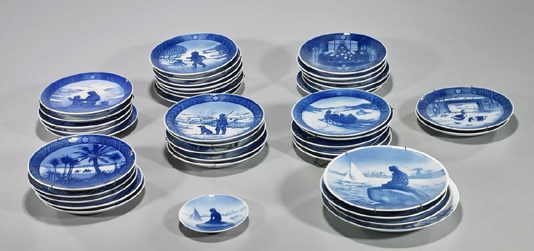 Large Collection of Royal Copenhagen Porcelain Plates