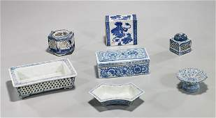Group of Old & Antique Chinese Blue & White Porcelains