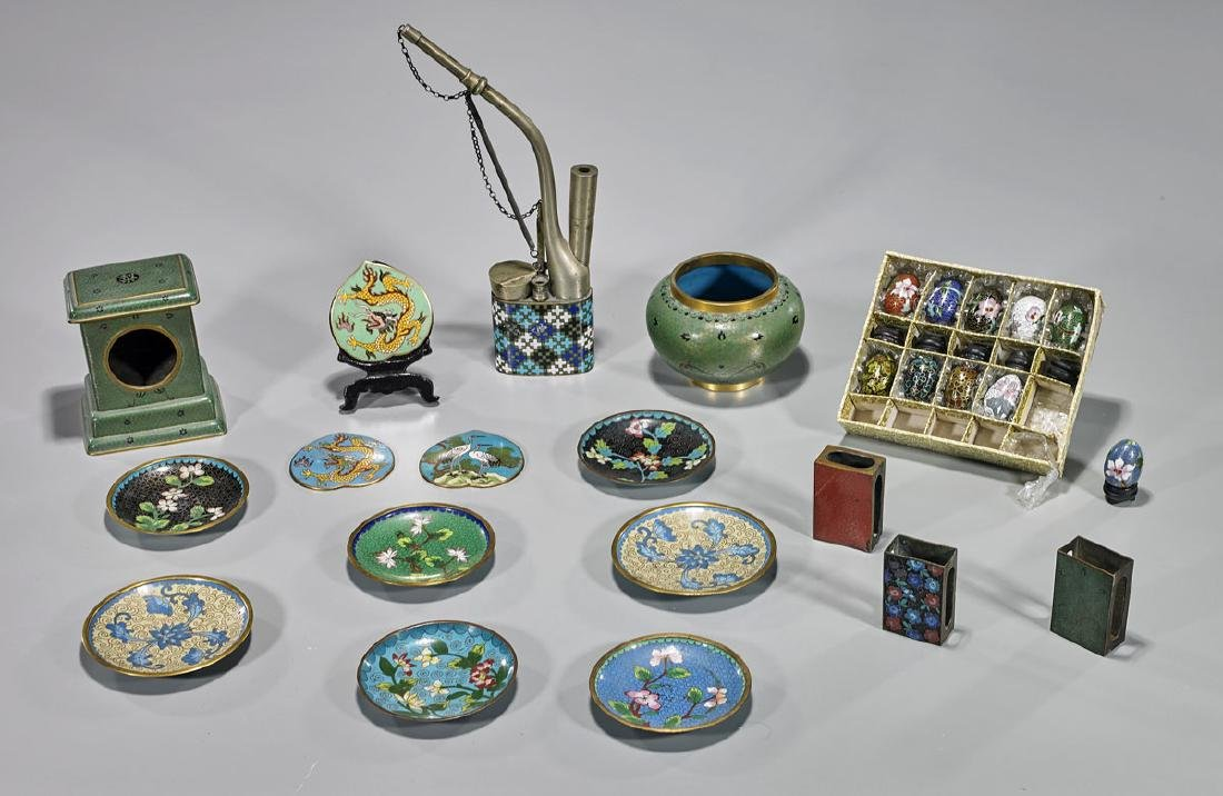 Collection of Various Old & Antique Cloisonne Enamel