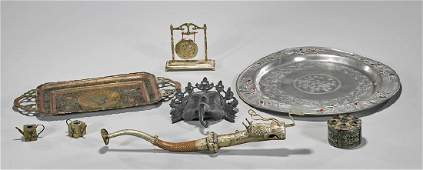 Group of Eight Various Metalwork Items