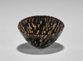 Song Dynasty 'tortoiseshell' Glazed Tea Bowl