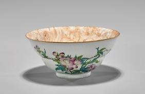 Qianlong Period Famille Rose Faux Bois Bowl