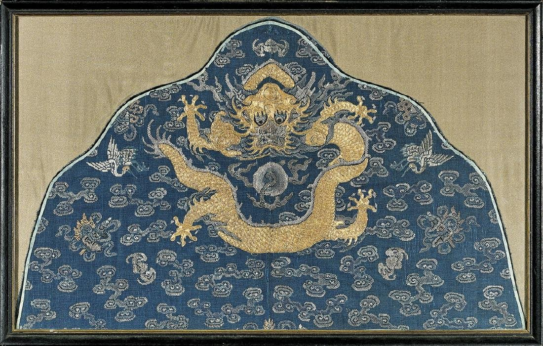 ANTIQUE CHINESE EMBROIDERED SILK TEXTILE