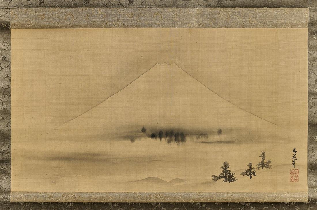 ANTIQUE PAINTING AFTER TANI BUNCHO: Mount Fuji