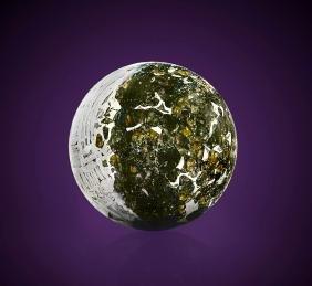 Pallasite Meteorite Sphere