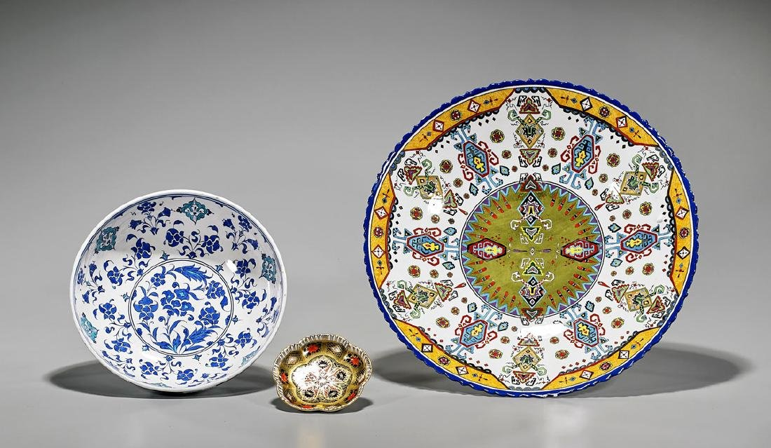 Group of Three Porcelains