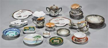 Large Group of Old and Antique Japanese Porcelains