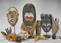 Group of Seven Various Wood Masks