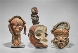 Group of Three Various Pende Masks