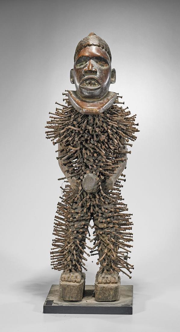 Kongo/Yombe 'Nkisi Nkondi' Figure