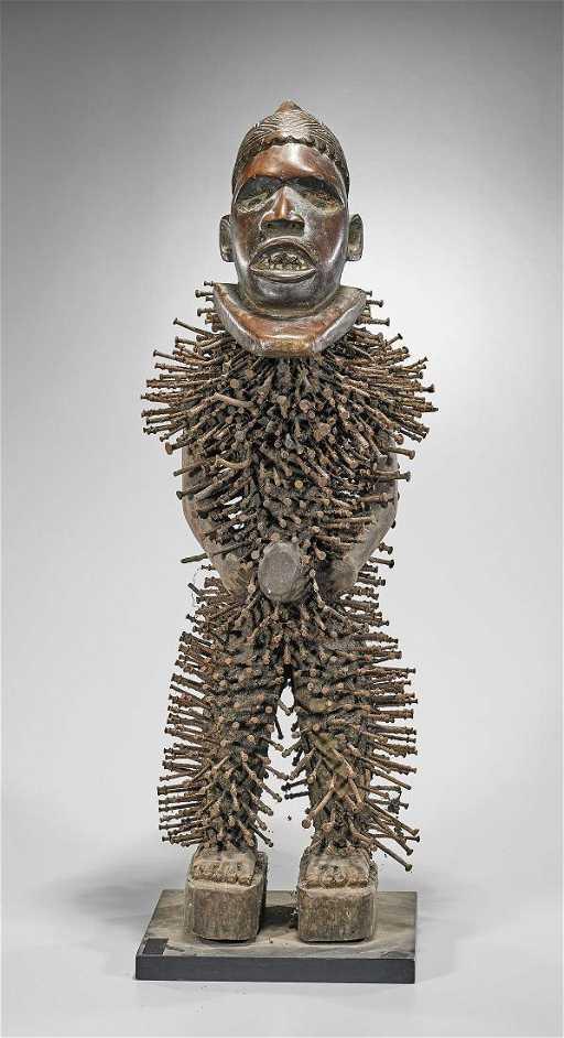 Kongo Yombe Nkisi Nkondi Figure