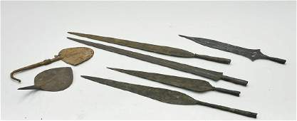 Group of African Metal Blade Currency