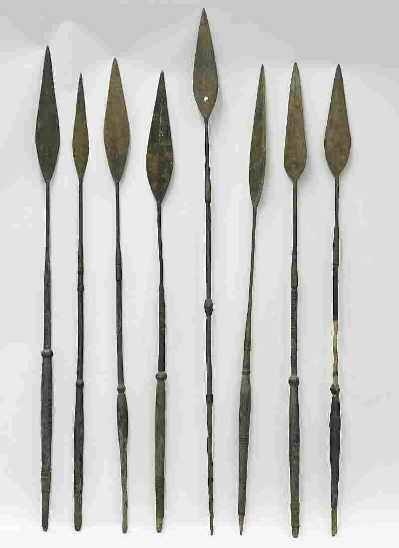 Group of Eight Various African Spears